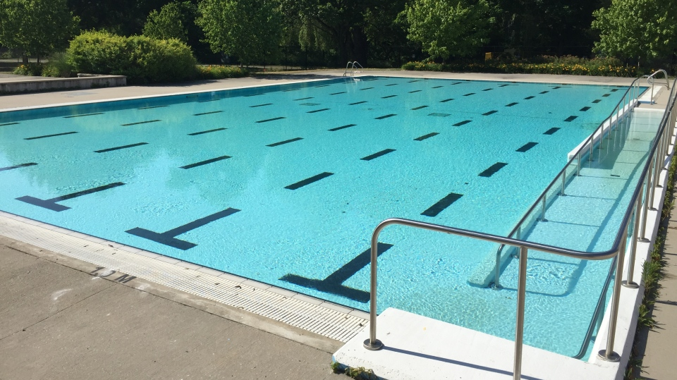 Gibbons Pool in London, Ont. opens on Monday, July 6, 2020 (Bryan Bicknell / CTV News)