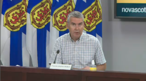 """We want to be open and welcoming but we are not going to let our guard down."" said Nova Scotia premier Stephen McNeil during a news conference in Halifax on July 3, 2020."