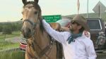 Filipe Masetti Leite, the honorary parade marshal for the 2020 Calgary Stampede, arrived in the city Friday to a special ceremony.