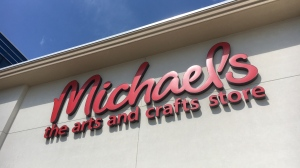The Michaels sign seen at the Waterloo store on July 3, 2020. (Terry Kelly / CTV Kitchener)