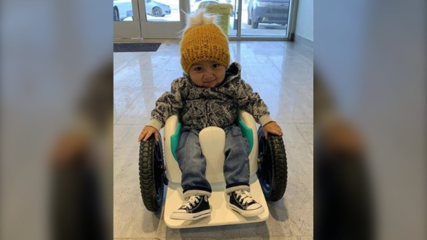 Family of Edmonton toddler with rare disease asking for $2.8M drug to be funded by AHS
