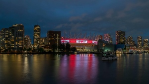 Celebrating Canada Day in False Creek. (Dkenz Yap photo)