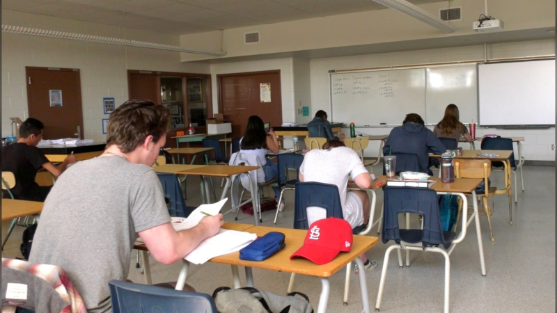 Calgary Catholic School District students are permitted back in schools for summer classes.