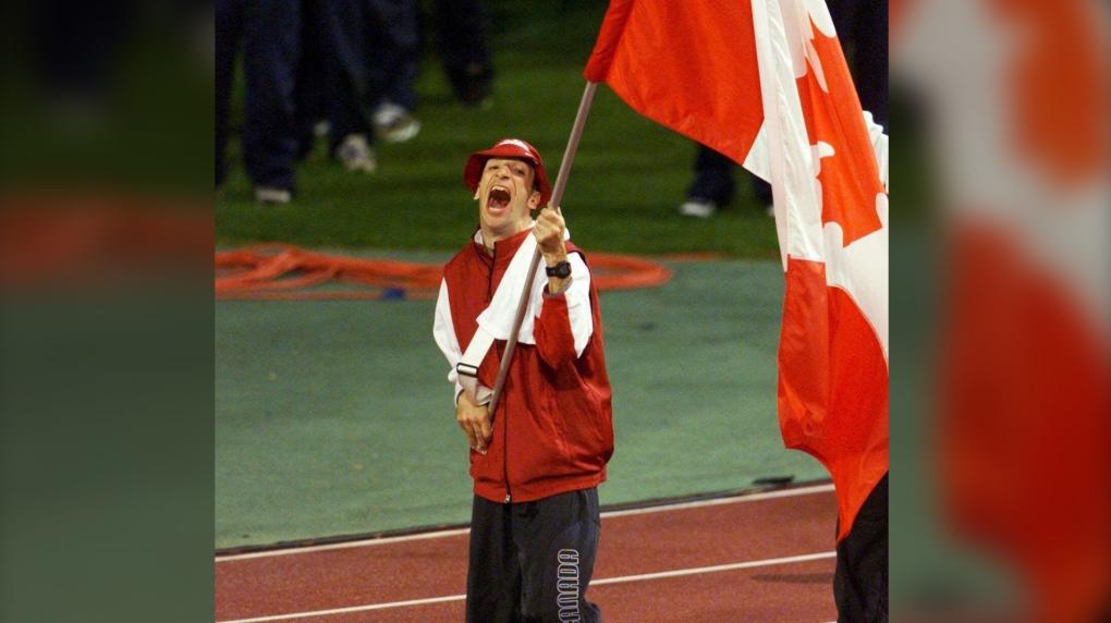 Canadian flag bearer Gary Longhi