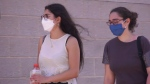People wear COVID-19 masks in Cote-St-Luc