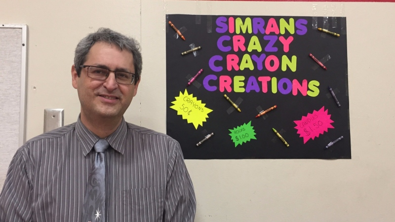 Delta teacher Elazar Reshef, who taught at Gray Elementary School, is seen in this social media image from December 2017. (Twitter/GrayLearners)