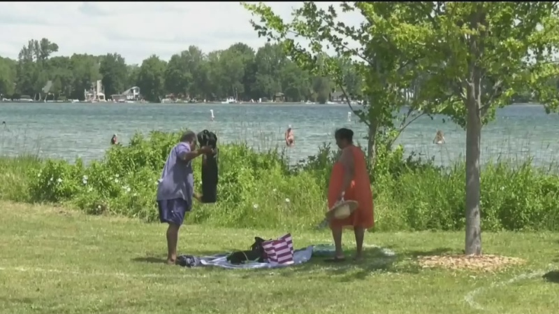 Some municipalities are taking action to prevent beach overcrowding.