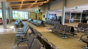 The interior of the Victoria International Airport, one of the airports receiving the funding. (Victoria International Airport / Facebook)