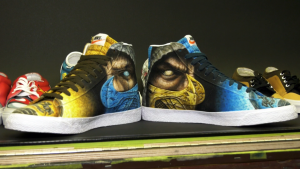 Calgary artist Jordon Bourgeault uses a different kind of canvas to create work on: sneakers. It turns out there's a large market for airbrushed sneakers.