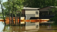 High water levels in southwest Manitoba