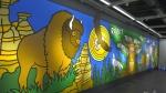 40-foot Indigenous mural unveiled at Edmonton IKEA. (CTV News Edmonton)