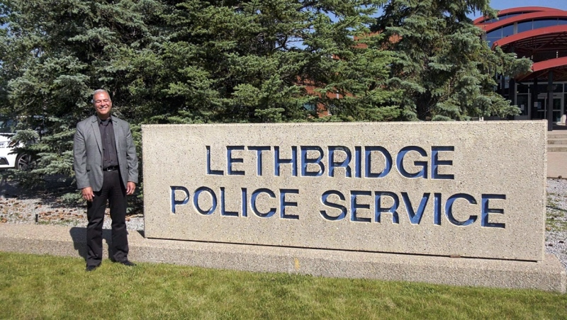 """New Lethbridge police chief Shahin Mahdizadeh met the media Friday, saying he was """"deeply honoured and humbled"""" to take the position."""
