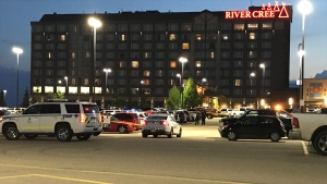 Police were called to the River Cree Casino on July 3, 2020. (Sean McClune/CTV News Edmonton)