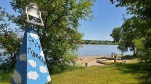 Katepwa Lake is seen from Camp Monahan, a summer camp east of Lebret, Sask. on July 3, 2020. (Donovan Maess/CTV News Regina)