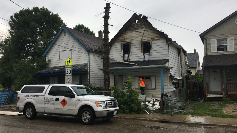 A fire broke out in a vacant home on Alexander Avenue Saturday. (Source: CTV/News Zach Kitchen)