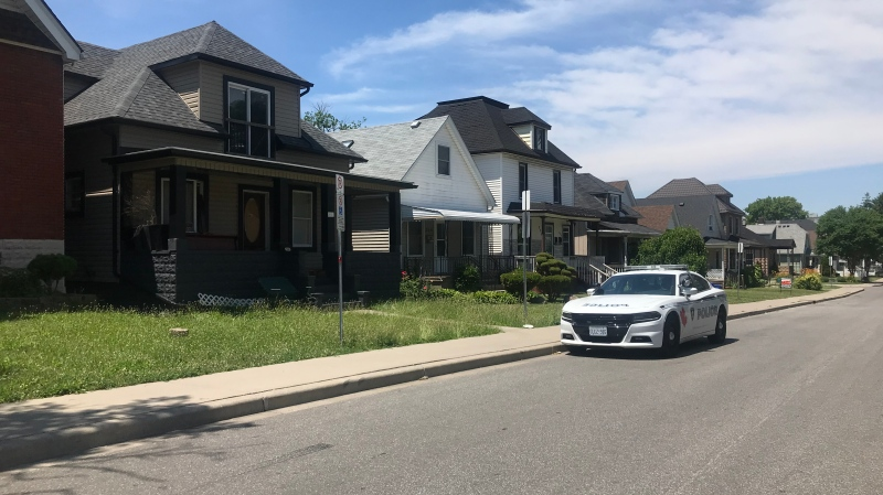 Windsor police investigate a weapons related call in the area of Assumption Street and Pierre Avenue in Windsor, Ont. on Saturday, July 4 2020. (Alana Haddadean/CTV Windsor)