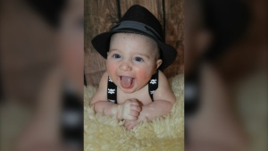 Jasmin Berube, Andrew Lindsay's nephew, was diagnosed with leukemia at just eight months old. Jasmin lost his life in February 2017 at the young age of two and a half. (Photo courtesy of Paul Proulx)