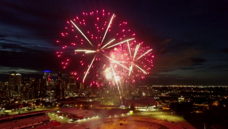 What would have been Stampede Parade Day in Calgary was marked with the Bell Fireworks Spectacular Friday night.