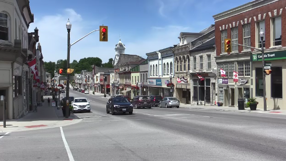 Queen Street in St. Marys, Ont. on July 4, 2020. (Brent Lale/CTV London)