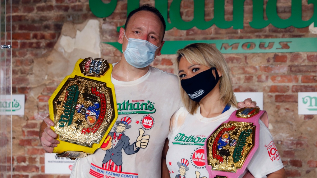 Joey Chestnut and Miki Sudo crush the hot dog contest -- again