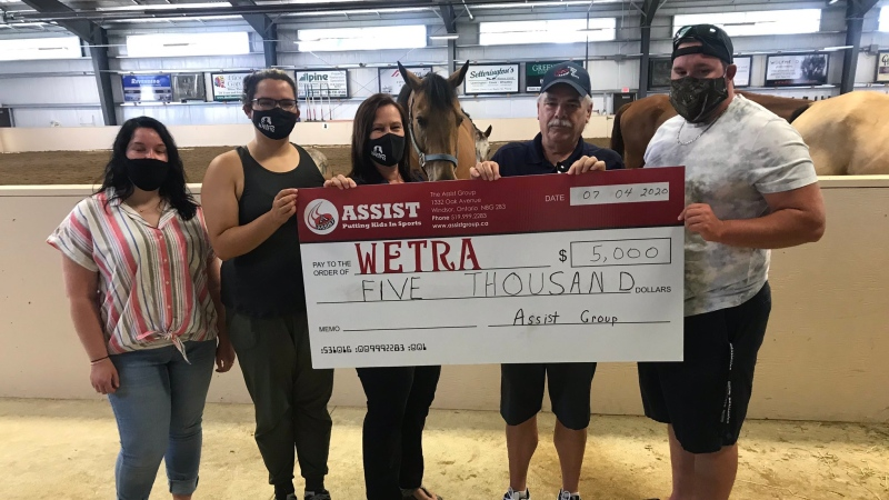 WETRA receives $5,000 donation from ASSIST - Putting Kids in Sports on Saturday, July 4, 2020 (Alana Hadadean/CTV Windsor)