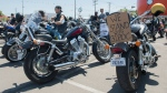 People are shown during a motorcycle ride against racism in Montreal, Saturday, July 4, 2020. THE CANADIAN PRESS/Graham Hughes