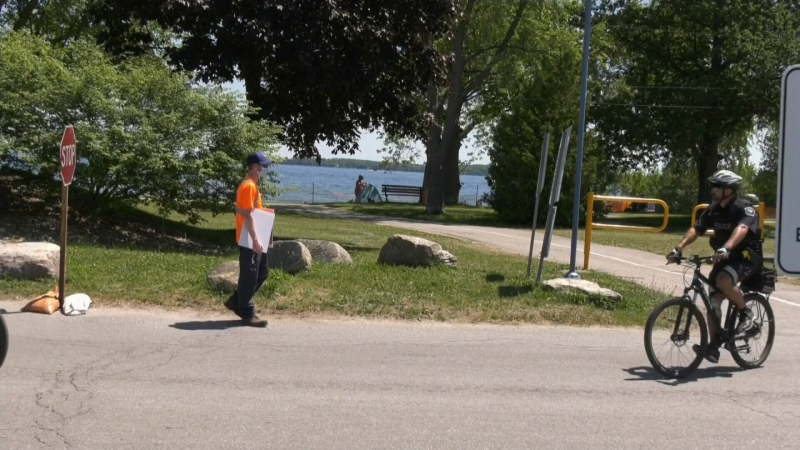 To spend a day on Innisfil's beaches, you have to keep it moving. CTV's Lexy Benedict reports.
