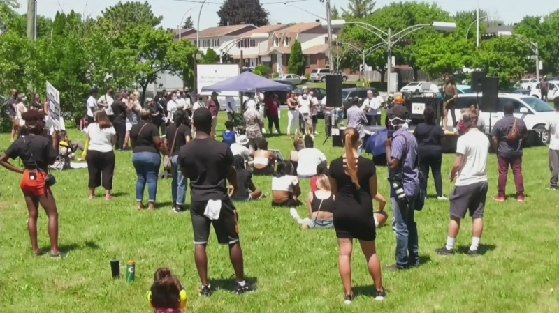 A peaceful rally was held on the West Island for those wanting to draw attention to the racism that exists there.
