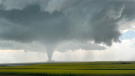 A possible tornado is shown near Kincaid, Sask. during a storm on July 4, 2020. (Courtesy: Meaghan Ryersee)