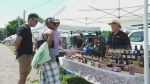 Vendors and shoppers are thrilled to be back, but there are concerns about heat and lack of rain