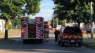 Gas leak at Trafalgar Street on Saturday, July 4, 2020 (Jordyn Read / CTV News)