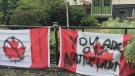 Flags defaced after Canada Day