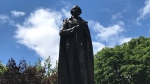 The Sir John A. Macdonald Statue in Kingston, Ont.'s City Park. (Kimberley Johnson / CTV News Ottawa)