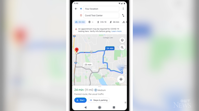 Google Maps features