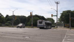 The intersection of Westmount Road and Victoria Street in Kitchener. (Adam Marsh - CTV Kitchener) (July 5, 2020)
