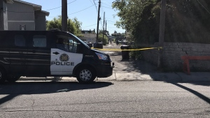 Police blocked off an alleyway in Radisson Heights for the investigation.