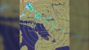 The Severe Thunderstrom alert for Sudbury, North Bay and surrounding areas was issued mid-afternoon Sunday and is expected to continue into the evening. July 5/2020 (Environment Canada)