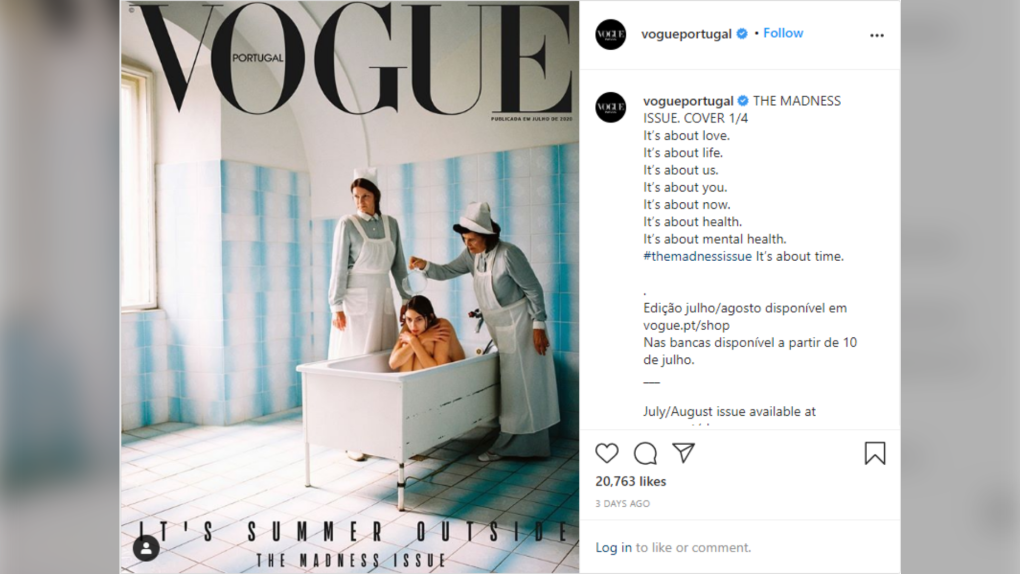 Vogue Portugal receiving backlash for cover depicting model in a ...