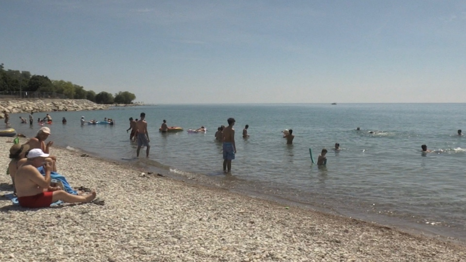 Goderich Main Beach on July 5, 2020. (Jordyn Read/CTV London)