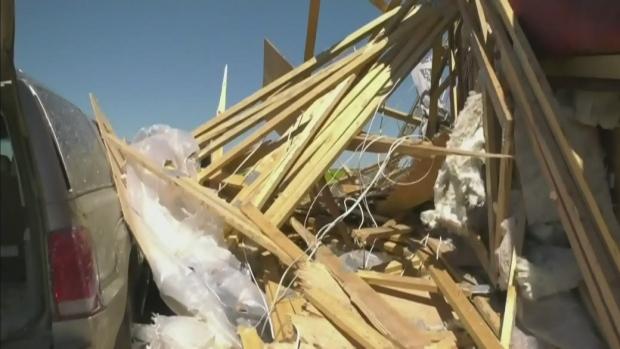 Tornado damages Sask. Property