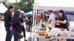 Farmer's market designed for pandemic rules