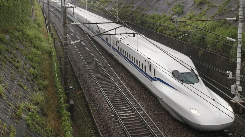The new N700S Shinkansen bullet train commenced commercial service on July 1, linking Tokyo with Osaka. (Credit: Kyodo News / Getty Images / CNN)