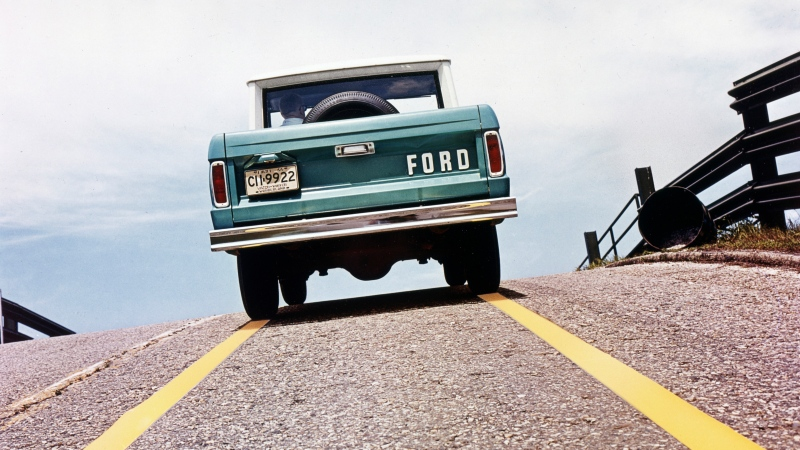 This photo provided by Ford Motor Co. shows a 1967 Ford Bronco T67-515. (Courtesy of Ford Motor Co. via AP)