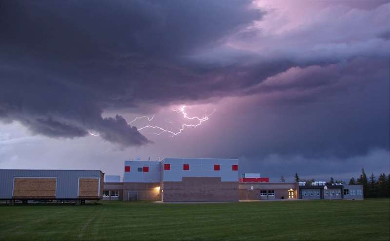 Rai's photo of scud during a July 5 storm near Calgary that prompted a tornado warning from Environment Canada