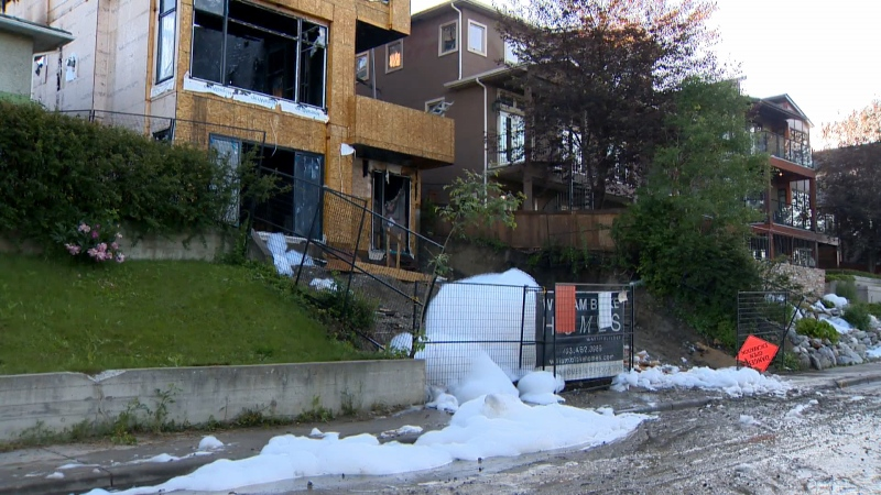 Bridgeland Calgary home construction fire