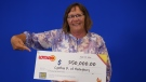 Cynthia Ramsay of Haileybury picking up her Lottario prize winnings in Toronto. (OLG)