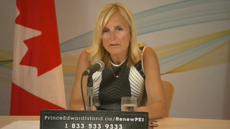 Prince Edward Island Chief Public Health Officer Dr. Heather Morrison provides an update on COVID-19 during a news conference on July 6, 2020.