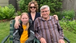 Katia Sovyn, left, Sherri Hrycay and Michael Sovyn have discovered family in France. (Carla Shynkaruk/CTV Saskatoon)