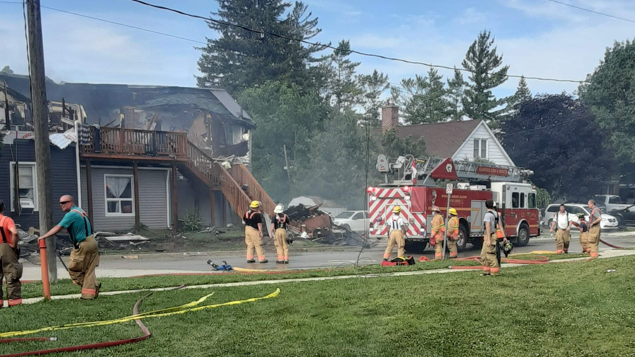 Walkerton house fire on Victoria Street on July 5, 2020.