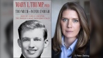 "This combination photo shows the cover art for ""Too Much and Never Enough: How My Family Created the World's Most Dangerous Man"", left, and a portrait of author Mary L. Trump, Ph.D. (Simon & Schuster, left, and Peter Serling/Simon & Schuster via AP)"